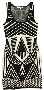 Love, Fire short dress Black and White on Tradesy