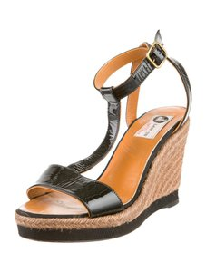 Lanvin Summer Black Wedges