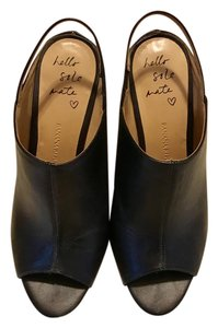 Banana Republic Black Leather Mules