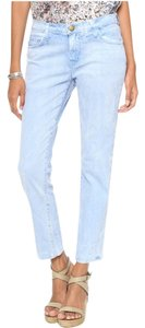 Current/Elliott Lightwash Summer Casual Comfortable Boyfriend Cut Jeans-Light Wash