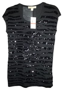 Michael Kors Sequin Blouse Holiday Top Black