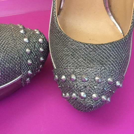 Penny Loves Kenny Silver Pewter Pumps