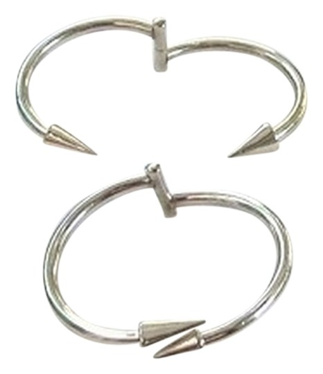 Unknown Sterling Silver Cuff Hinged bracelet With Arrow Head Ends