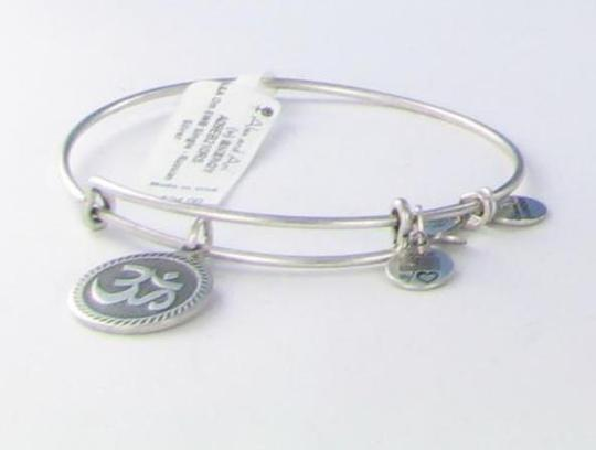Alex and Ani Om Charm Bracelet Russian Silver Retired RARE