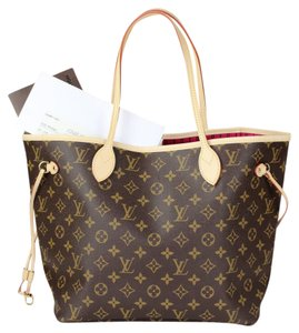Louis Vuitton Neverfull Neverfull Mm Leather Satchels Tote