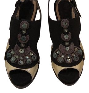 Marni black sequin Wedges