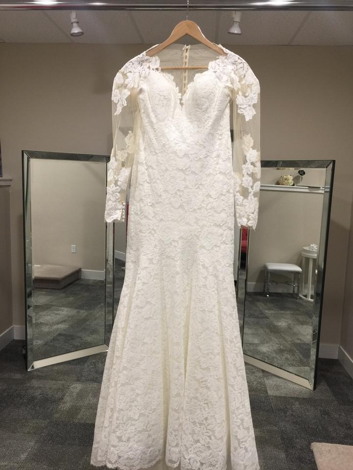 Allure Bridals Ivory Lace 9377 Formal Wedding Dress Size 10 (M ...