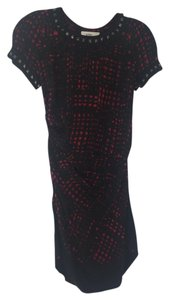 31c0aebe2d63 Étoile Isabel Marant short dress black and red print on Tradesy