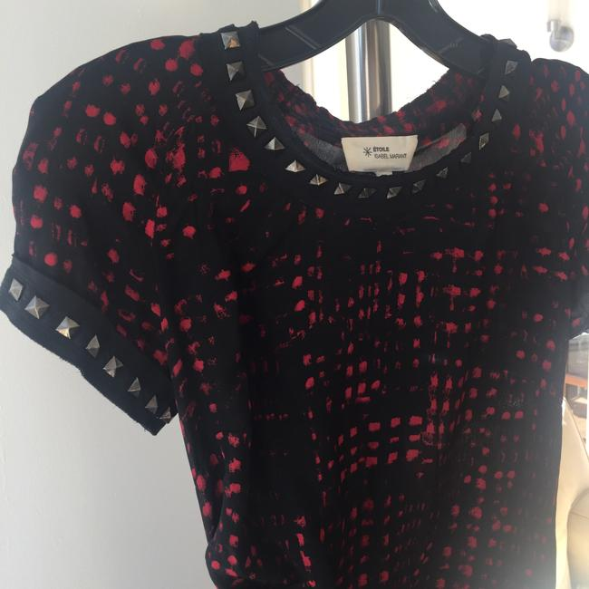 toile Isabel Marant short dress black and red print on Tradesy