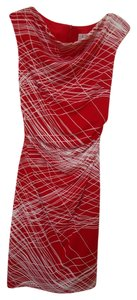 David Meister Sheath Abstract Dress