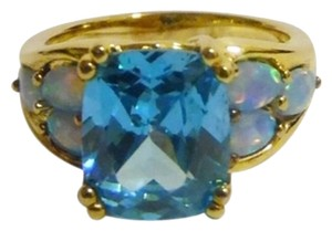 Technibond Technibond Simulated Swiss Blue Topaz and Opal Ring size 7