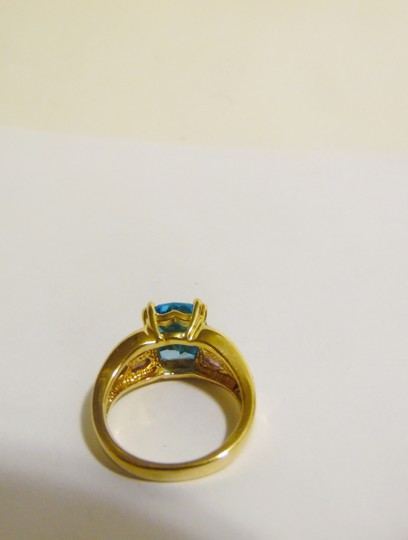 Technibond Technibond Swiss Blue Topaz and Opal Ring size 7