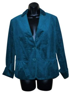 Talbots Green Teal Corduroy Stretchy Lined Dark teal Jacket