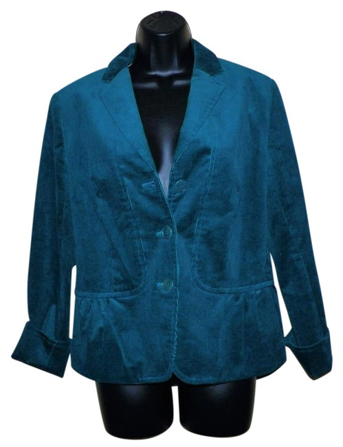 Talbots Green Corduroy Stretchy Lined Dark teal Jacket