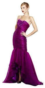 Theia Silk Hi Lo Gown Ball Gown Evening Dress