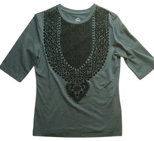 Tory Burch Top Grey and black
