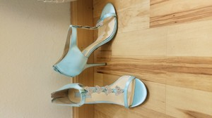 Betsey Johnson Blue Betsey Johnson Crystal Heart Wedding Heels Wedding Shoes