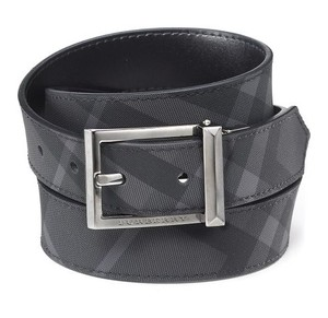 Burberry Brit Webster Men's Beat Check Belt; Size 44/110