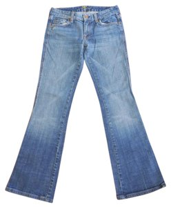 7 For All Mankind Stretchy A Pocket Boot Cut Jeans-Medium Wash