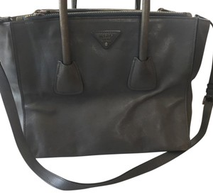 Prada Satchel in marine (grayish blue)