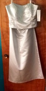 Bill Levkoff European Silver Polyester Formal Bridesmaid/Mob Dress Size 20 (Plus 1x)