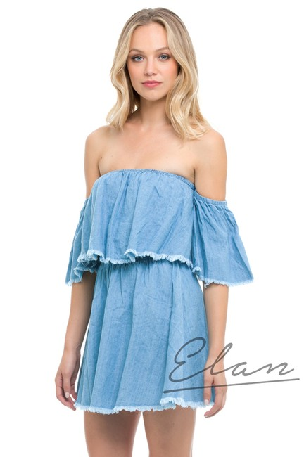 Elan short dress Denim on Tradesy