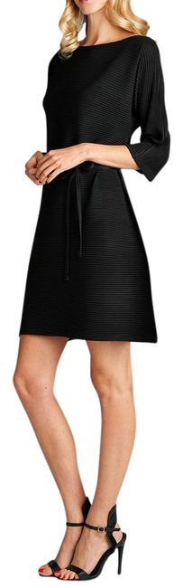 Preload https://img-static.tradesy.com/item/21028813/black-olivia-knit-pleated-with-waist-tie-mid-length-short-casual-dress-size-os-one-size-0-1-650-650.jpg