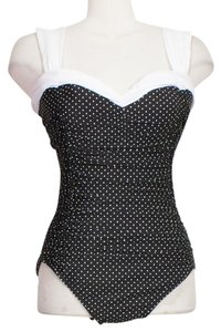 Miraclesuit Pin Point Polka Dot Saxon Underwire Swimsuit 14