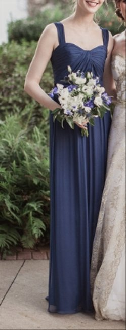 Item - French Blue Crinkle Chiffon G782c Formal Bridesmaid/Mob Dress Size 4 (S)