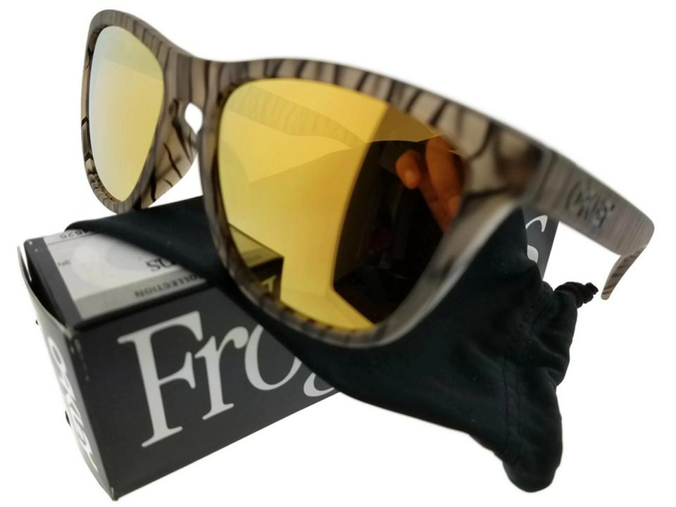 46572a8c0b0 Oakley OO9245-24 Frogskin Men s Sepia Frame Brown Lens 54mm Sunglasses NWT  ...
