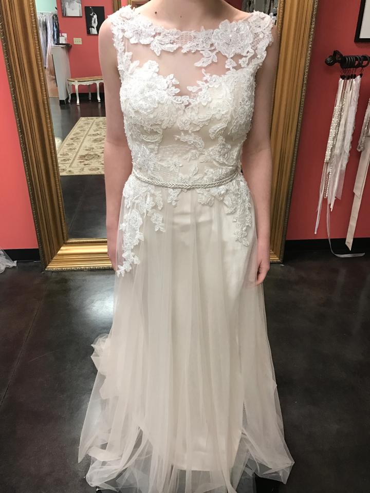Maggie Sottero Iv/Lt.gold Lace and Tulle Elka Casual Wedding Dress ...