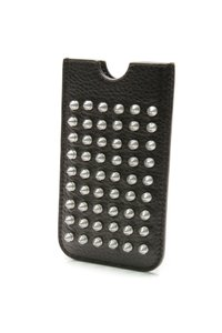 Burberry Burberry Black Leather Studded Brit Rhythm iPhone Sleeve