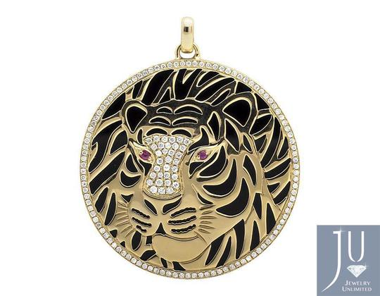 Other Cheetah Panther Cougar Diamond 1.5 Inch Medallion Pendant 1.0ct