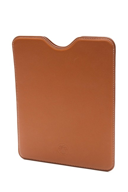 Hermès Brown Swift Leather Ipad Case Tech Accessory Hermès Brown Swift Leather Ipad Case Tech Accessory Image 1