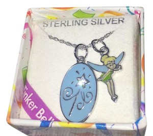 Disney Adorable Disney Sterling Silver Tinkerbell Necklace w/ 2 Sterling Silver Pendants