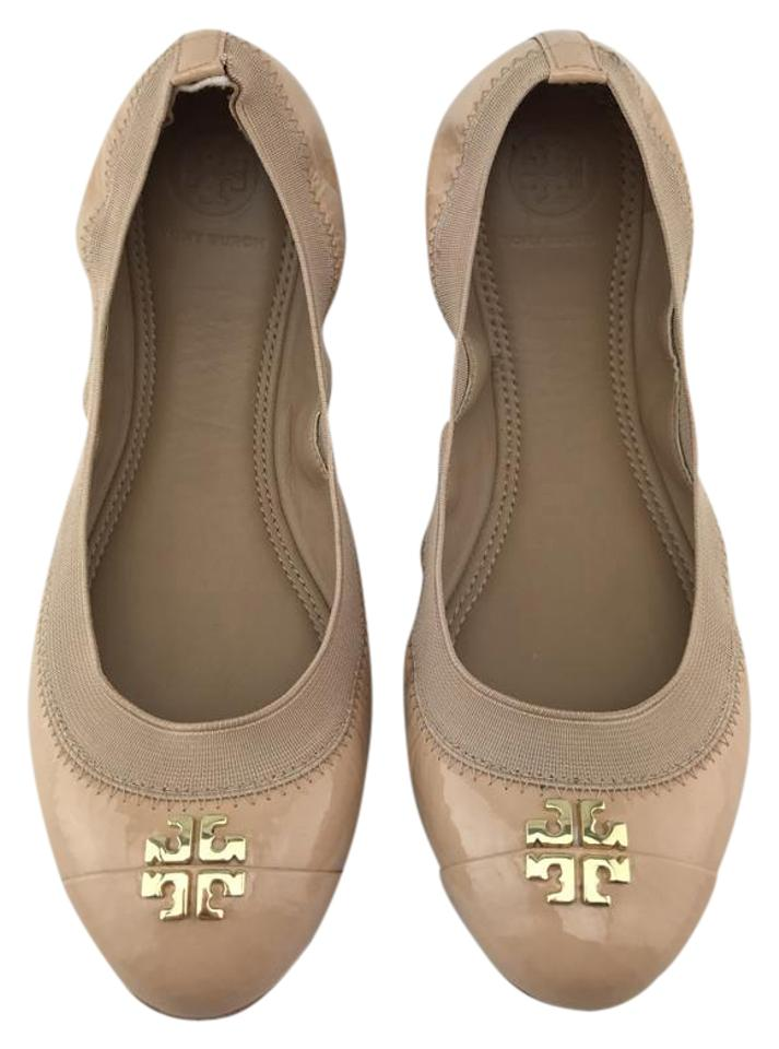 974aef459 Tory Burch Jolie Ballet Gold Patent Nude Flats Image 0 ...