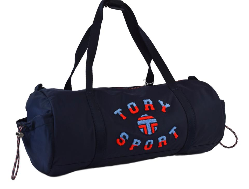 37d168ccd29 Tory Burch Sport Logo Duffle In Navy Nylon Weekend Travel Bag - Tradesy