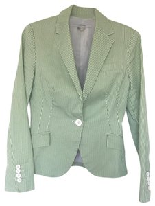 Zara Jacket Green Striped Blazer