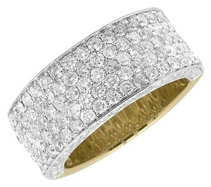 Other 10K Y Gold 3D Round Pave Diamond Engagement Wedding Ring Band 3.5ct
