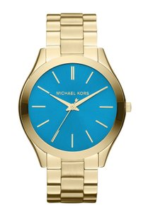 Michael Kors Women's Slim Runway Gold-Tone Stainless Steel Bracelet Watch MK3265