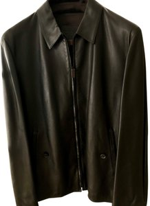 Bally black Leather Jacket