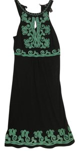 INC International Concepts short dress Black and green on Tradesy