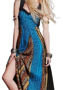 Free People Bohemian Summer Gown Beaded Lace Dress