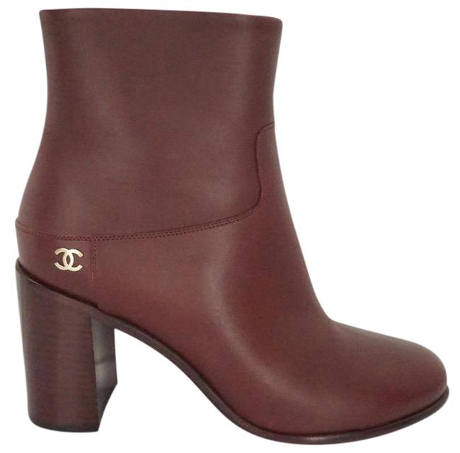 Item - Red Leather Rider Forever Short Gg Logo Cap Toe High Heel Ankle Boots/Booties Size EU 39.5 (Approx. US 9.5) Regular (M, B)