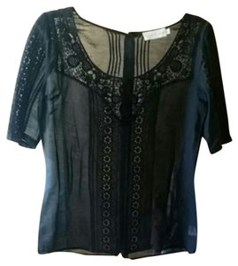 4 Love and Liberty by Johnny Was Boho Embroidered Top Black