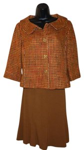 Isabel & Nina Isabel & Nina Brown & Orange Skirt Suit