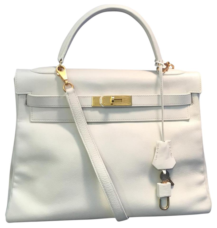 69b838a33274 Hermès Kelly 32cm Vintage Satchel in Off White Image 0 ...