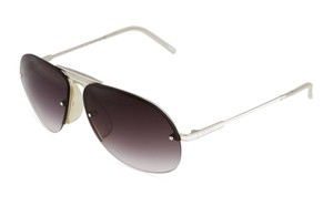 Gucci Two Tone White Aviator Sunglasses