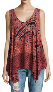 Free People Print Boho Tank Asymmetrical Tunic