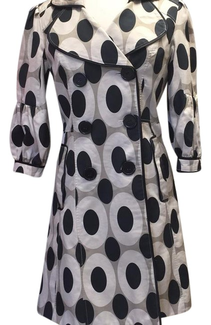 CC Couture Black/Taupe Dotted Design Coat Size 6 (S) CC Couture Black/Taupe Dotted Design Coat Size 6 (S) Image 1
